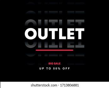 Outlet sale 50% Off black white shop store fashion