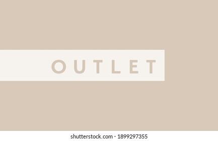 Outlet sale promo icon banner shop online