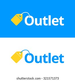 outlet vector templates blue yellow