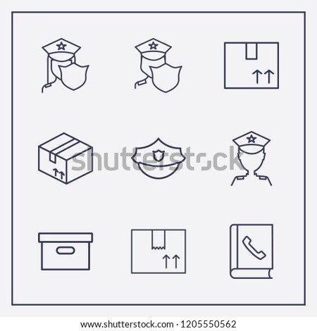 aad1f6223b6 Outline 9 Order Icon Set Box Stock Vector (Royalty Free) 1205550562 ...