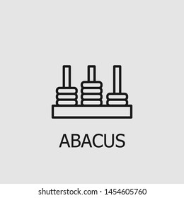 Outline abacus vector icon. Abacus illustration for web, mobile apps, design. Abacus vector symbol.