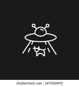 Outline abduction vector icon. Abduction illustration for web, mobile apps, design. Abduction vector symbol.