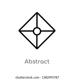 outline abstract vector icon. isolated black simple line element illustration from miscellaneous concept. editable vector stroke abstract icon on white background