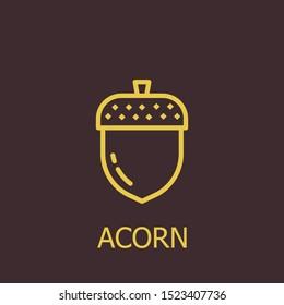 Outline acorn vector icon. Acorn illustration for web, mobile apps, design. Acorn vector symbol.