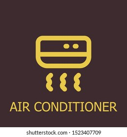 Outline air conditioner vector icon. Air conditioner illustration for web, mobile apps, design. Air conditioner vector symbol.