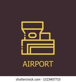 Outline airport vector icon. Airport illustration for web, mobile apps, design. Airport vector symbol.