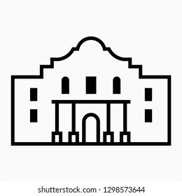 Outline The Alamo vector icon