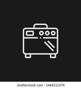 Outline amplifier vector icon. Amplifier illustration for web, mobile apps, design. Amplifier vector symbol.