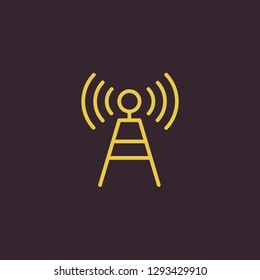 Outline antenna vector icon. Antenna illustration for web, mobile apps, design. Antenna vector symbol.