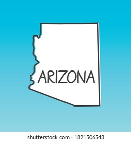 outline of Arizona map- vector illustration