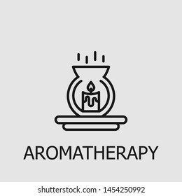 Outline aromatherapy vector icon. Aromatherapy illustration for web, mobile apps, design. Aromatherapy vector symbol.