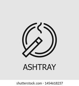 Outline ashtray vector icon. Ashtray illustration for web, mobile apps, design. Ashtray vector symbol.