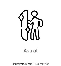 outline astral vector icon. isolated black simple line element illustration from magic concept. editable vector stroke astral icon on white background