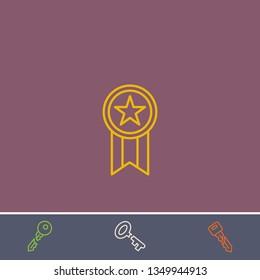 Outline award icon.Best award vector, illustrated icon for modern web and mobile design.Bonus broken key symbol