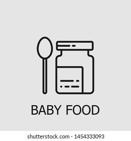 Outline baby food vector icon. Baby food illustration for web, mobile apps, design. Baby food vector symbol.