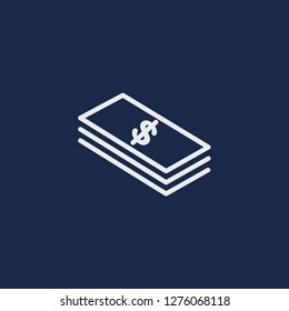 Outline banknote vector icon. Banknote illustration for web, mobile apps, design. Banknote vector symbol.