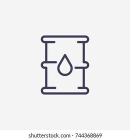 Umriss-Symbol für Baröl-Symbol, Vektorsymbol