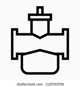 Outline beautiful carburetor vector icon