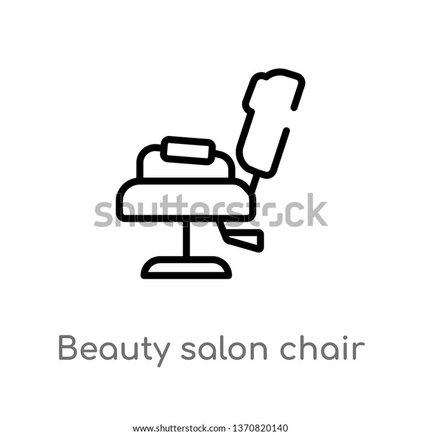 Astounding Outline Beauty Salon Chair Vector Icon Stock Vector Royalty Home Interior And Landscaping Eliaenasavecom