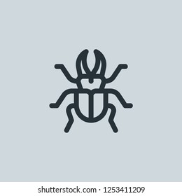 Outline beetle vector icon. Beetle illustration for web, mobile apps, design. Beetle vector symbol.