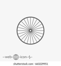 outline bicycle rim vector icon