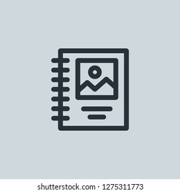 Outline binding vector icon. Binding illustration for web, mobile apps, design. Binding vector symbol.