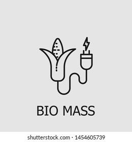 Outline bio mass vector icon. Bio mass illustration for web, mobile apps, design. Bio mass vector symbol.