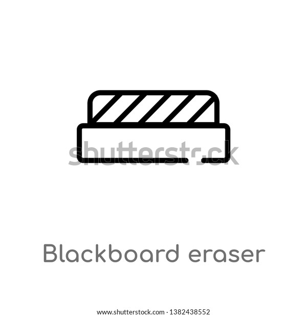 outline blackboard eraser vector icon isolated stock vector royalty free 1382438552 shutterstock