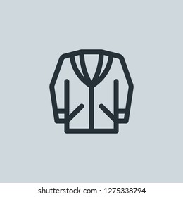 Outline blazer vector icon. Blazer illustration for web, mobile apps, design. Blazer vector symbol.