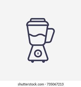 Outline blender  icon illustration vector symbol