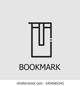 Outline bookmark vector icon. Bookmark illustration for web, mobile apps, design. Bookmark vector symbol.