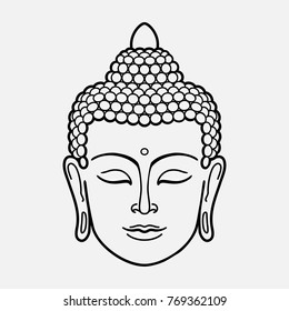 Outline Buddha Head
