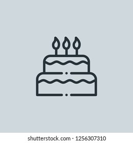 Birthday Cake Candle Icon Element New Stock Illustration 1243832707