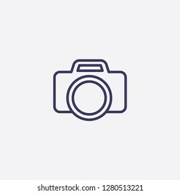 Outline camera icon illustration isolated vector sign symbol