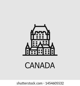 Outline canada vector icon. Canada illustration for web, mobile apps, design. Canada vector symbol.