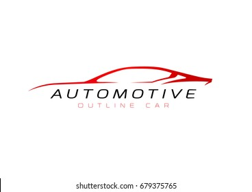 Outline car illustration for your company