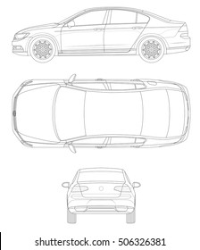 Outline car template