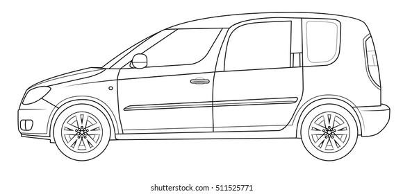 Outline car template
