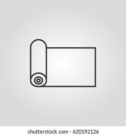 Outline carpet icon   web icon ilustration  vector symbol
