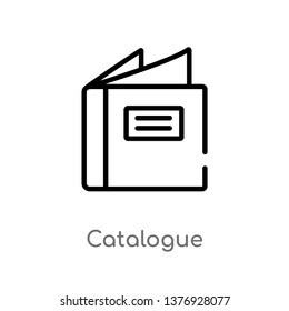 outline catalogue vector icon. isolated black simple line element illustration from fashion and commerce concept. editable vector stroke catalogue icon on white background