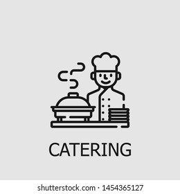 Outline catering vector icon. Catering illustration for web, mobile apps, design. Catering vector symbol.