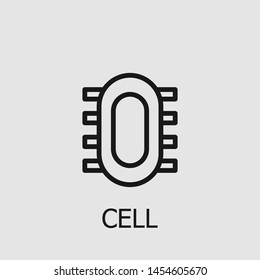 Outline cell vector icon. Cell illustration for web, mobile apps, design. Cell vector symbol.