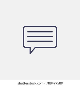 Outline chat icon illustration isolated vector sign symbol