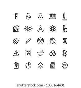 Outline Chemistry Icons
