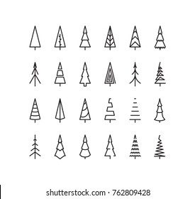 Outline Christmas Tree Spruce