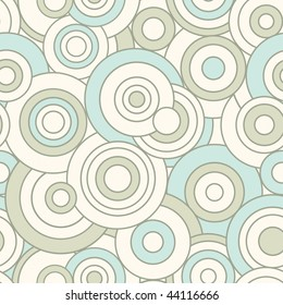 outline circles in abstract pattern
