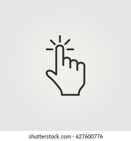 Outline click  icon illustration vector symbol