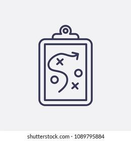 Umrissmarkierung der Zwischenablage, Vektorsymbol-Symbol, Plansymbol