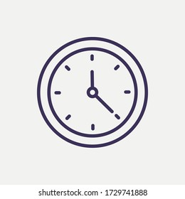 Outline clock icon.clock vector illustration. Symbol for web and mobile