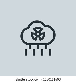 Outline co2 cloud vector icon. Co2 cloud illustration for web, mobile apps, design. Co2 cloud vector symbol.